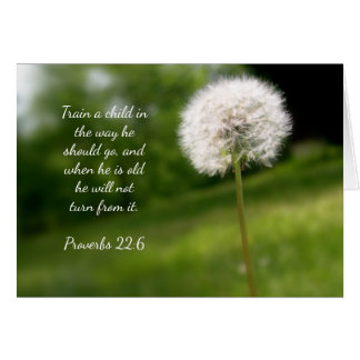 Dandelion Sunday School Teacher Thank You Card