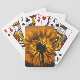 Dandelion Sunset Playing Cards