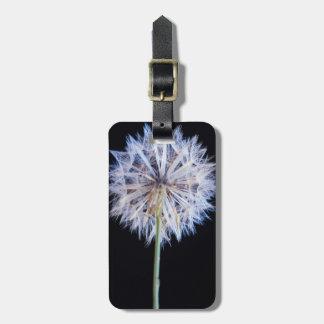 Dandelion (Taraxacum Officinale) Seed Head Luggage Tag