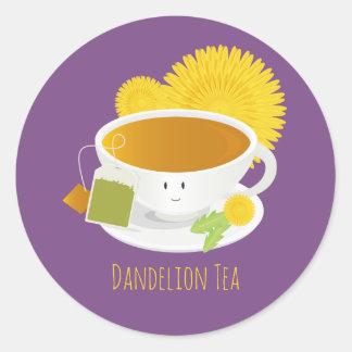 Dandelion Tea Cup Character   Sticker