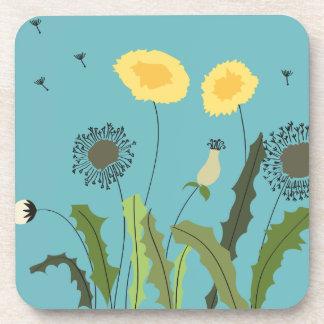 Dandelion, Turquoise Coaster