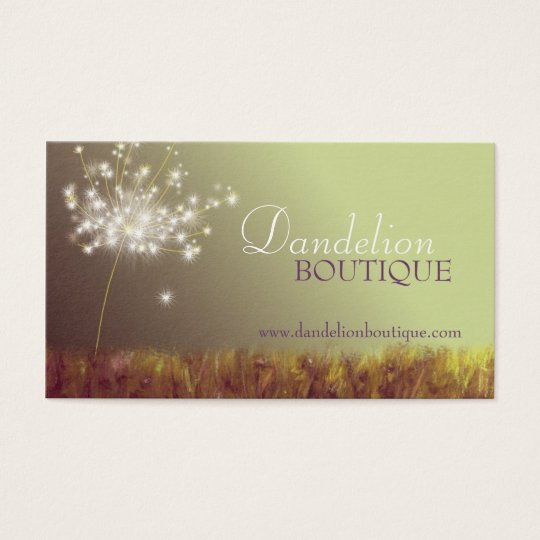 Dandelion Unique Fashion Salon Business Cards