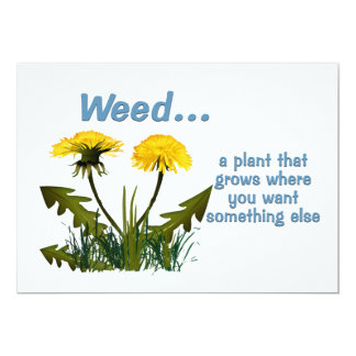 Dandelion Weed Quote 5x7 Paper Invitation Card