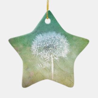Dandelion Wish Dreamy Design Ceramic Star Decoration