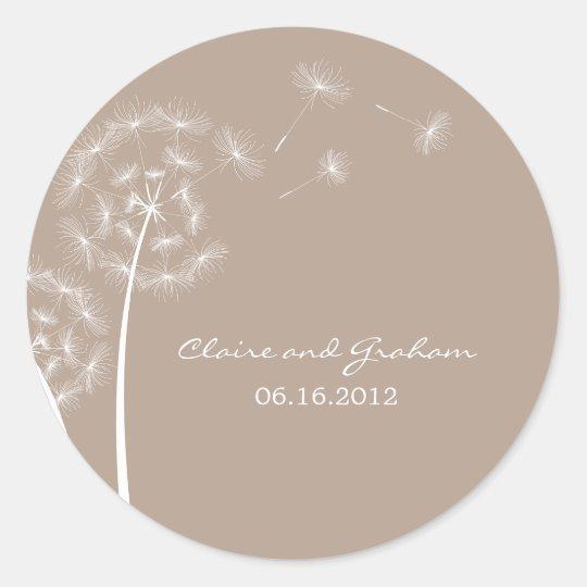 Dandelion Wish Favour Sticker or Envelope Seal
