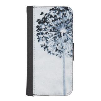 Dandelion Wishes Chic Blue Custom Floral iPhone SE/5/5s Wallet Case
