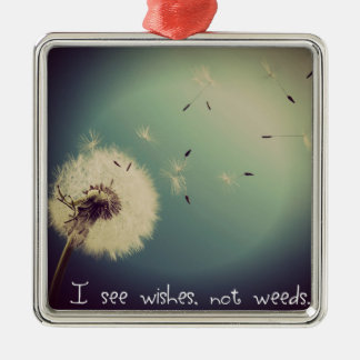 Dandelion Wishes Christmas Ornament