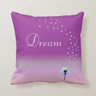 Dandelion Wishes & Dreams - Pink Cushion