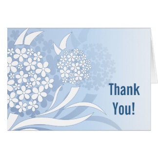 Dandelion Wishes Floral - Thank You Note Card