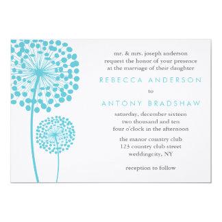 Dandelion Wishes Wedding Card