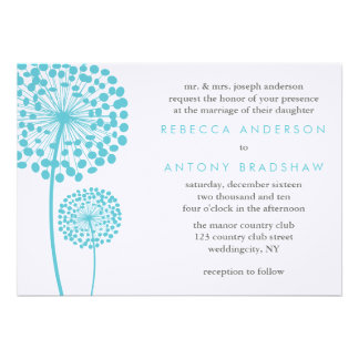 Dandelion Wishes Wedding Personalized Invitation