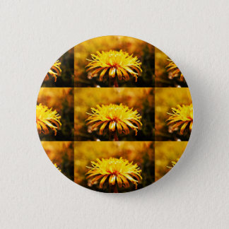 Dandelion Yellow Blossoms Flowers Vines Spring 6 Cm Round Badge