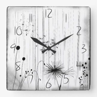Dandelions and Rain Wall Clock