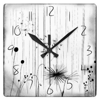 Dandelions and Rain Wall Clock