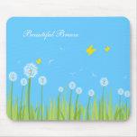 dandelions, Beautiful Breeze Mouse Mat