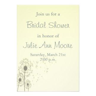 Dandelions Bridal Shower Personalized Announcement