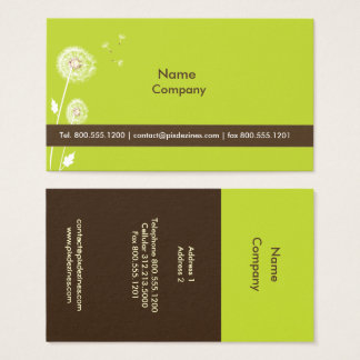 DANDELIONS/DIY color/moss green dark chocolate Business Card