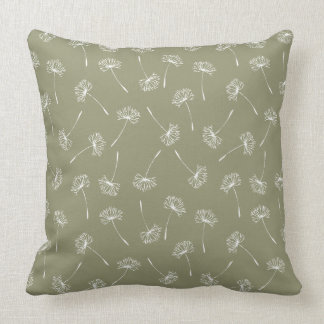 Dandelions in the Field Throw Pillow