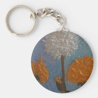 Dandelions Basic Round Button Key Ring
