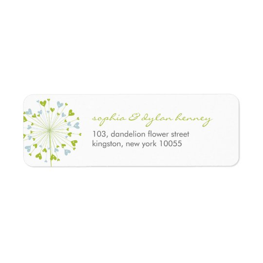 Dandelions Love Cute Summer Wedding Address Labels