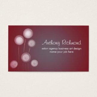 dandelions modern stylish business cards