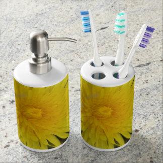 Dandelions Soap Dispenser And Toothbrush Holder