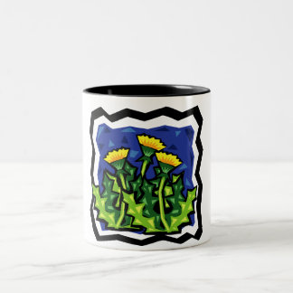 Dandelions Two-Tone Coffee Mug