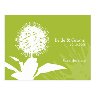 Dandi Snow save the date post card Colour: Fig