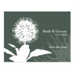 Dandi Snow save the date post card Colour:Grey sky