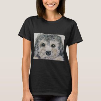 Dandie Dinmont puppy art t shirt mum birthday