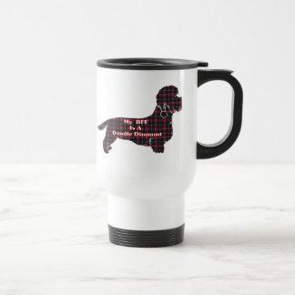 Dandie Dinmont Terrier BFF Stainless Steel Travel Mug