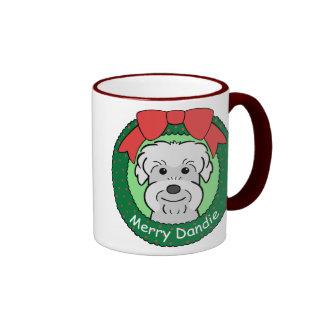 Dandie Dinmont Terrier Christmas Coffee Mug