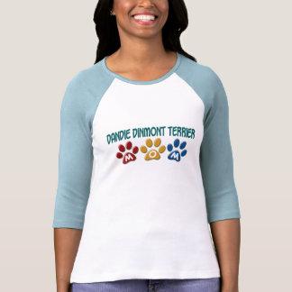 DANDIE DINMONT TERRIER Mom Paw Print 1 Tshirt