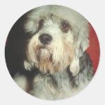 Dandie Dinmont Terrier Round Sticker