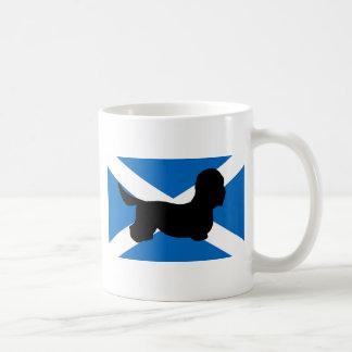 dandie dinmont terrier silhouette flag mug
