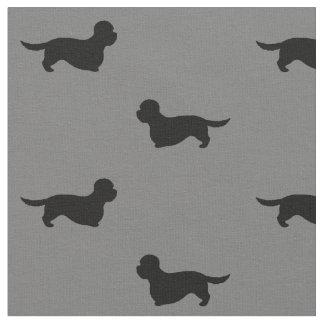 Dandie Dinmont Terrier Silhouettes Pattern Fabric
