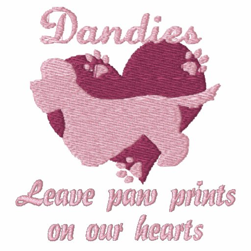 Dandies Leave Paw Prints Embroidered Shirt