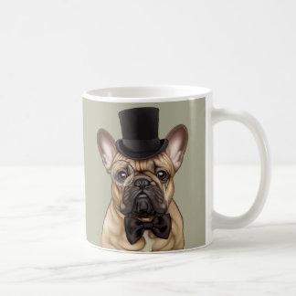 Dandy Chic French Bulldog Basic White Mug