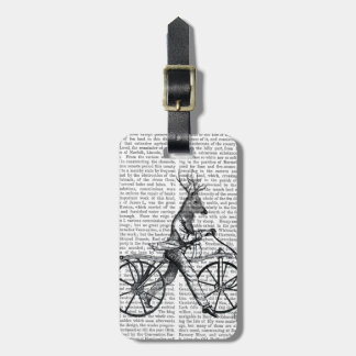 Dandy Deer on Vintage Bicycle Luggage Tag