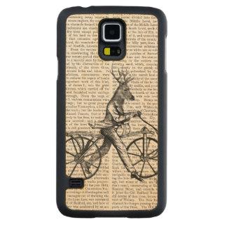 Dandy Deer on Vintage Bicycle Maple Galaxy S5 Case