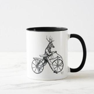 Dandy Deer on Vintage Bicycle Mug