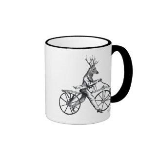 Dandy Deer on Vintage Bicycle Ringer Mug