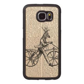 Dandy Deer on Vintage Bicycle Wood Phone Case