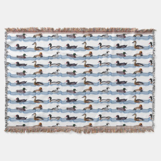 Dandy Ducks Throw Blanket (choose colour)