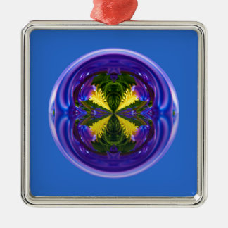 Dandy Four Abstract Globe Christmas Ornament