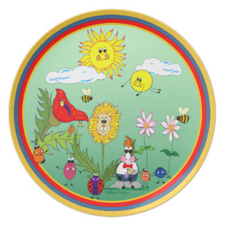 Dandy Lion & Friends Plate