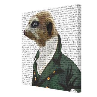 Dandy Meerkat Portrait Canvas Print