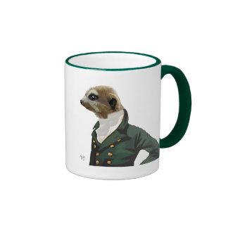 Dandy Meerkat Portrait Ringer Mug