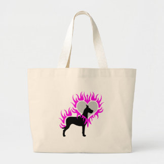 Dane on Fire Large Tote Bag