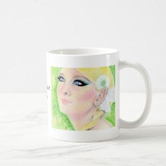 Danedelion Fairy  Blonde Faery Basic White Mug
